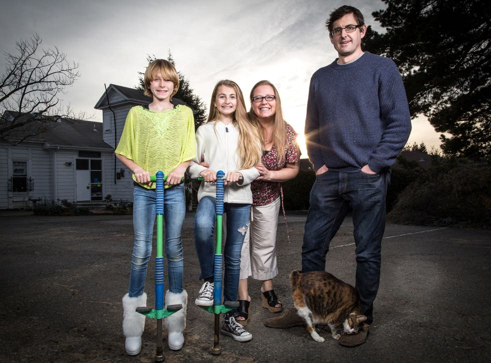 Body talk: Louis Theroux with Cole, Rebecca and Joy in 'Transgender Kids'