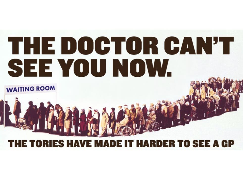 Labour has parodied the famous Tory election poster