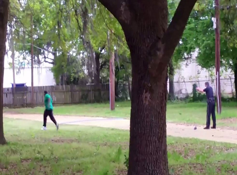 A still from the video appears to show Michael Slager shooting Walter Scott as he runs away