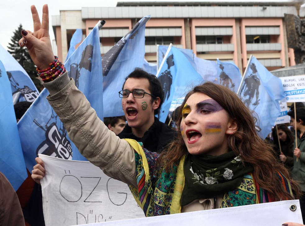 Students took to the streets last year to protest what they claimed was a creeping Islamisation of education in their country