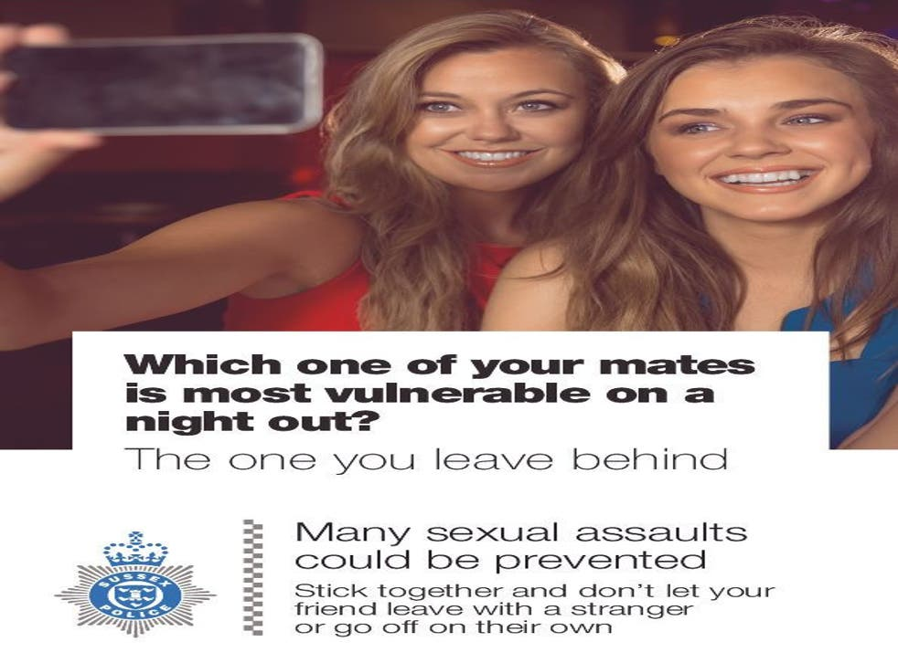 A poster released by Sussex Police for a summer safety campaign.