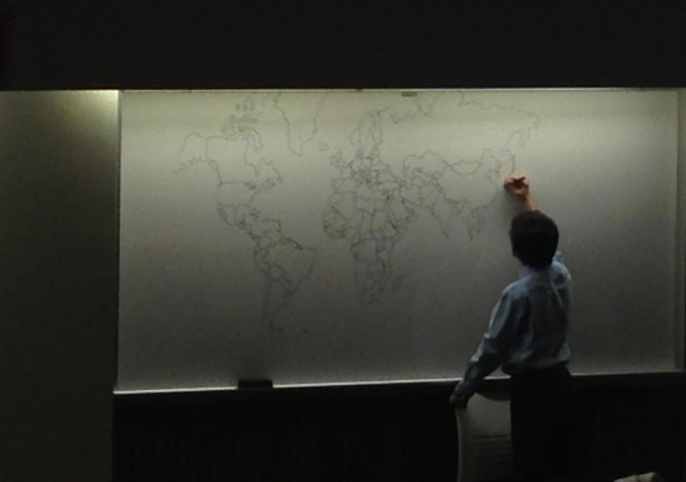 Autistic boy draws map of world from memory the independent a picture posted on reddit shows a boy drawing a map from memory bobits gumiabroncs Image collections