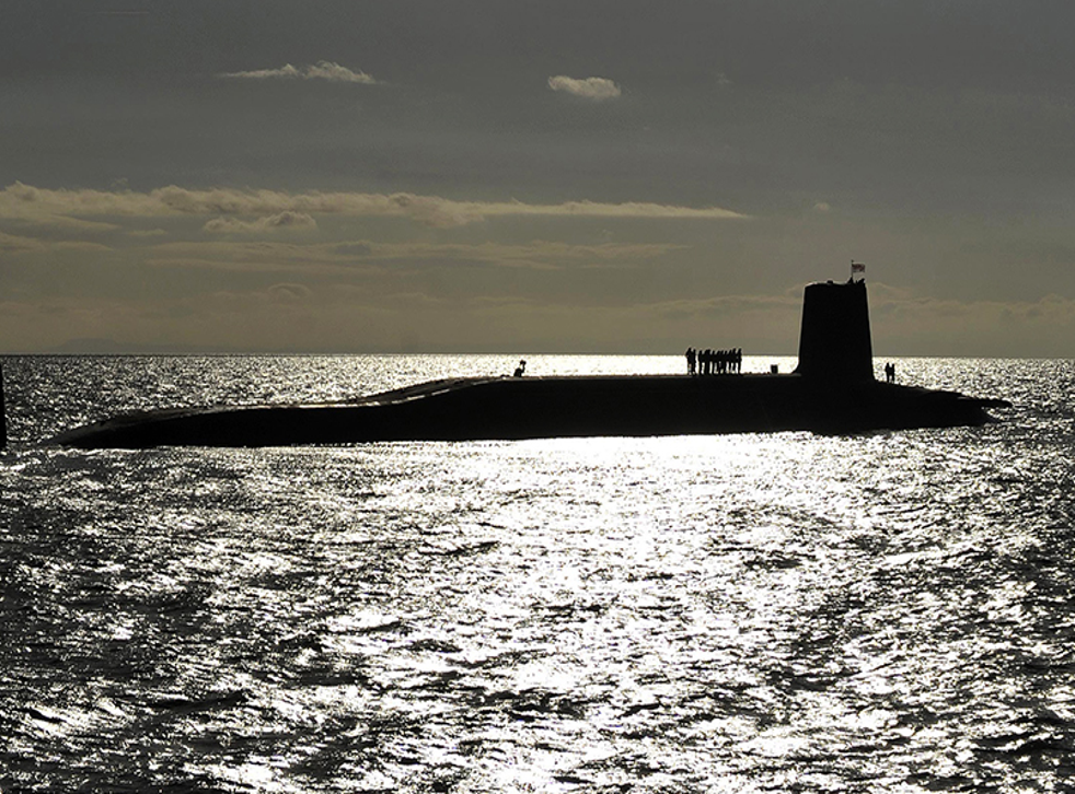 A Vanguard-class nuclear submarine used in the Trident weapons system
