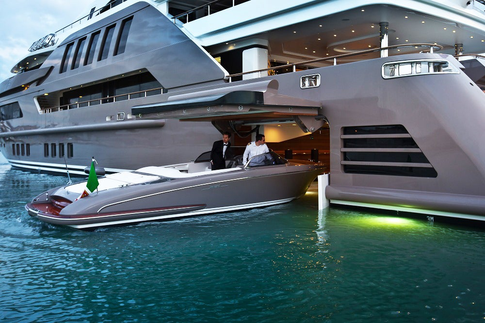 This guy parks his yacht in his yacht