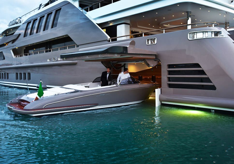 this guy parks his yacht in his yacht the independent
