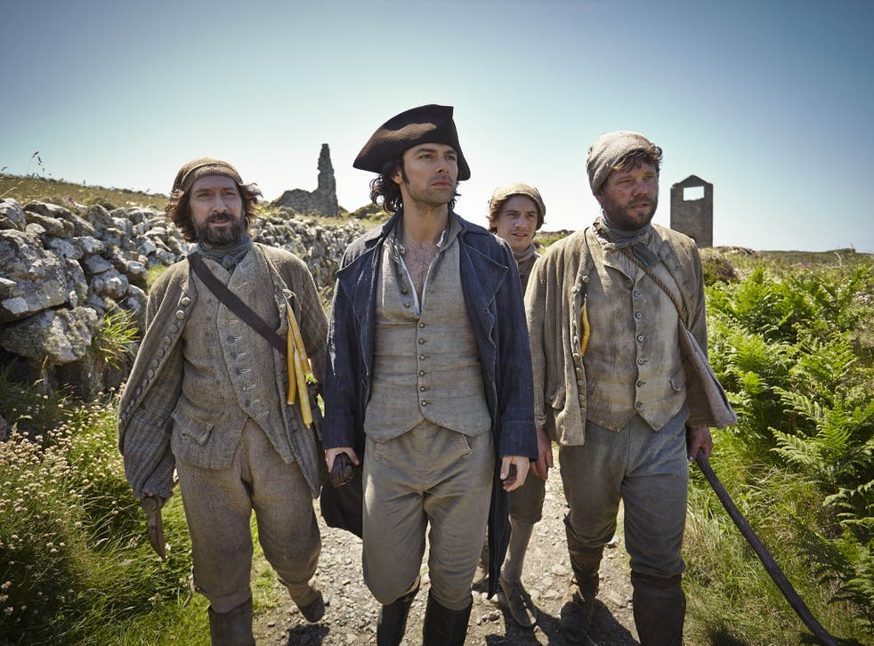 Proving his metal: Ross Poldark (played by Aidan Turner in the BBC series) epitomises the risk-taking spirit of 18th-century mine owners