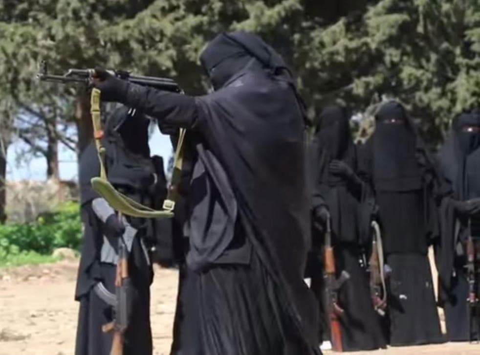 Isis has released a propaganda video showing women in training camps