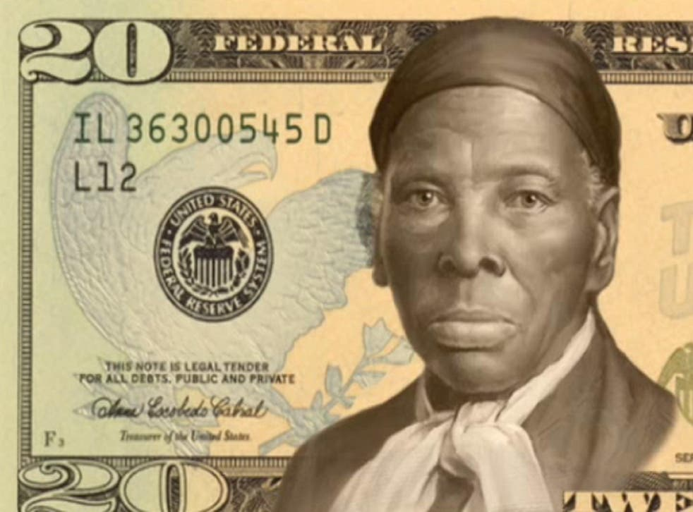 A mockup of Harriet Tubman on the $20 bill