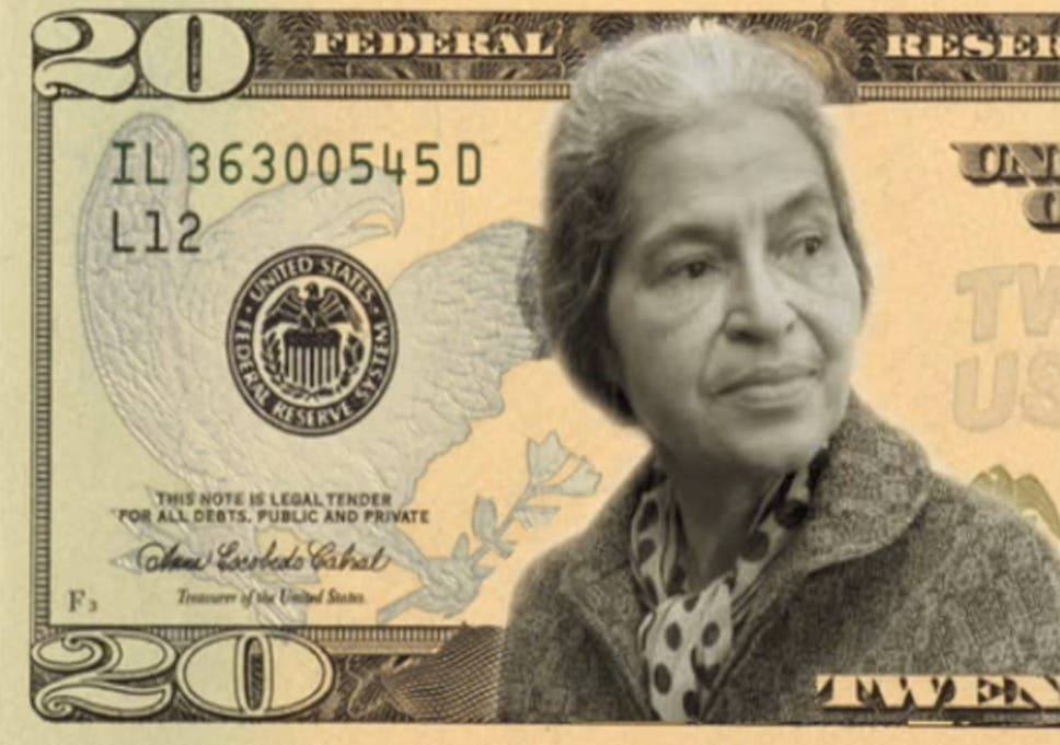 Women On Dollars Campaign Underway To Put Eleanor Roosevelt Harriet Tubman Rosa Parks Or Wilma Mankiller On Us 20 Bill The Independent