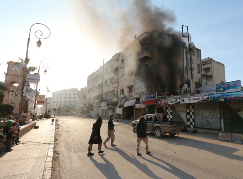The provincial capital of Idlib, Syria, which fell to al-Qaeda affiliate Jabhat al-Nusra last week