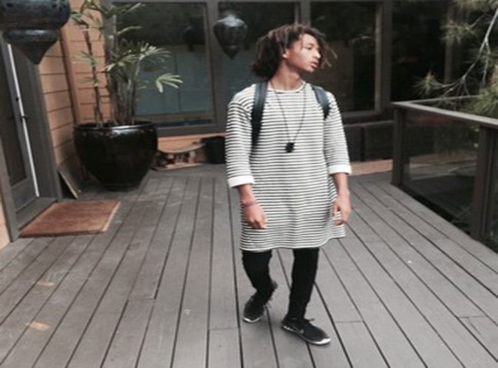 The picture Jaden posted of himself on Instagram