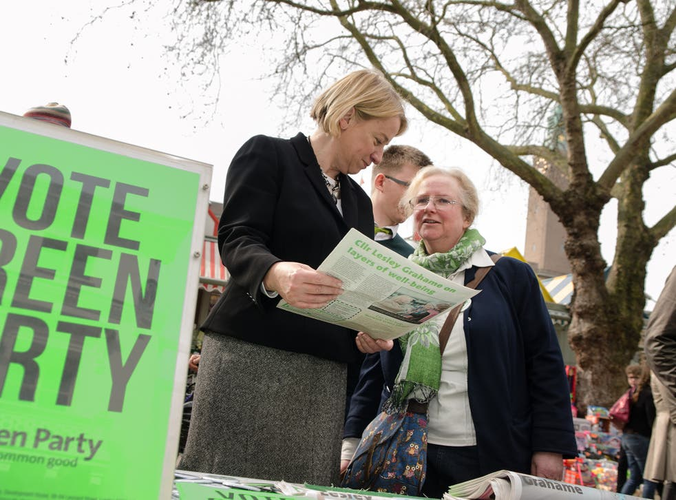 Natalie Bennett in Norwich South, one of 12 target seats for the Green Party