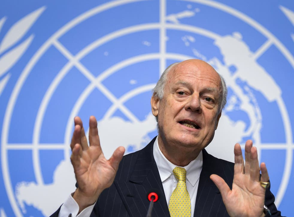 Staffan de Mistura is trying to relaunch the peace process