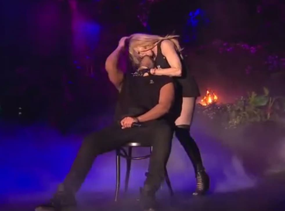 Madonna kisses Drake on stage at Coachella