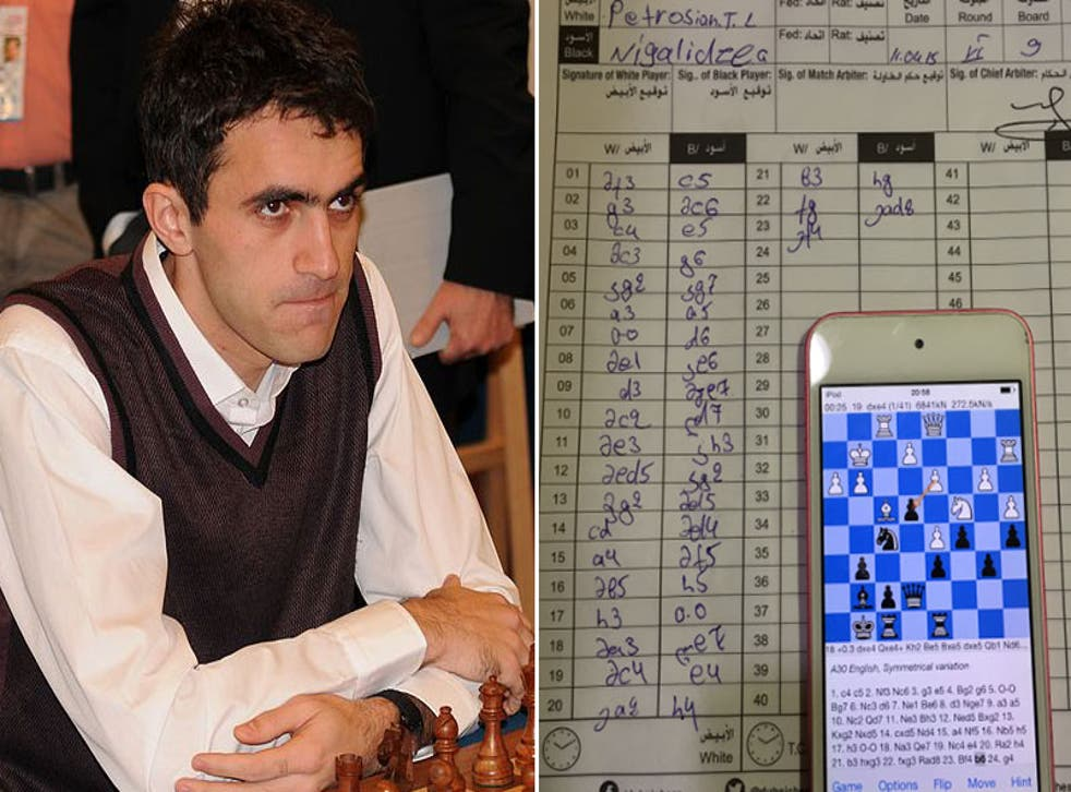 Gaoiz Nigalidze's opponent noticed the player was going to the toilet after every move in a crucial part of the game