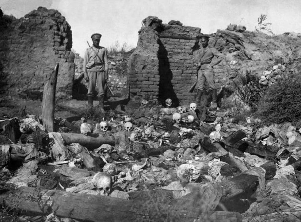 Armenians say up to 1.5 million of their forebears were killed in a 1915-16 genocide by Turkey's former Ottoman Empire; Turkey has the figure at 500,000 (AFP/Getty)