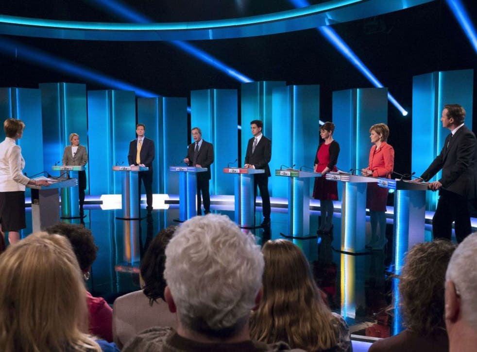 The seven leaders of Britain's main political parties took part in the general election live debate (AFP)
