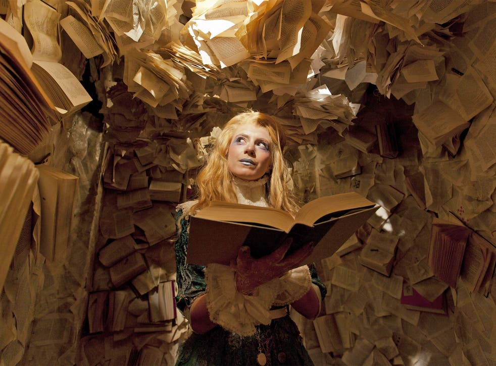 Fantasy stuff: one of the performers in 'Alice Underground' at the London Vaults