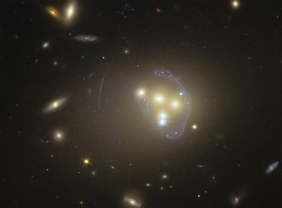 The discovery that dark matter trails behind galaxies in this way suggests it is not perfectly 'dark' after all