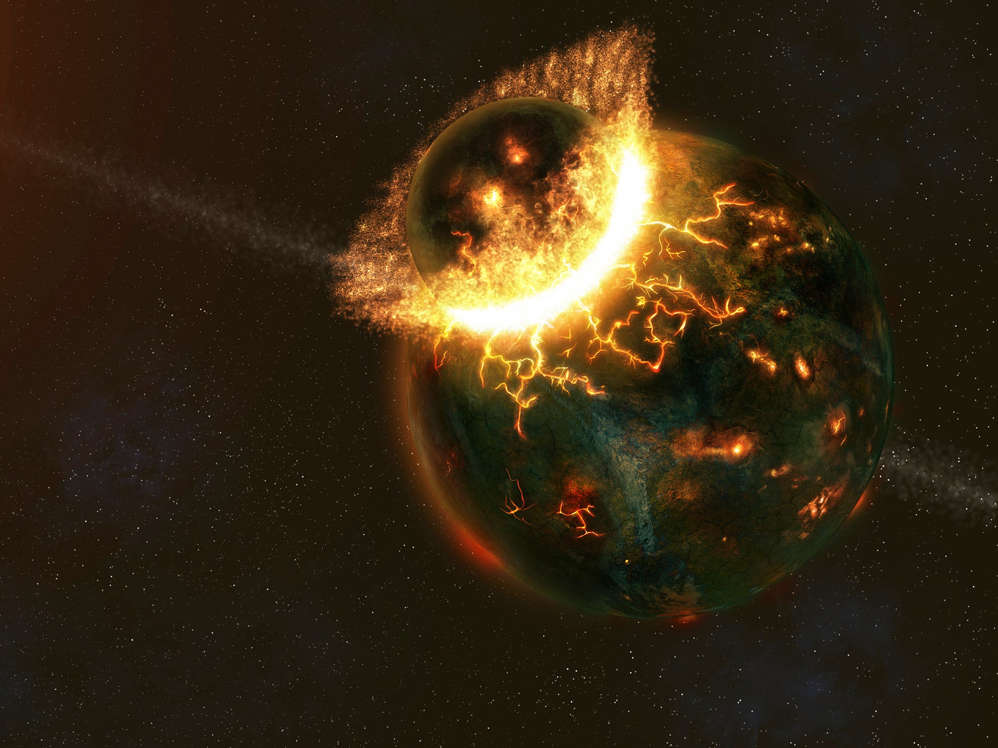 Earth's collision with a Mercury-like planet may have been ...
