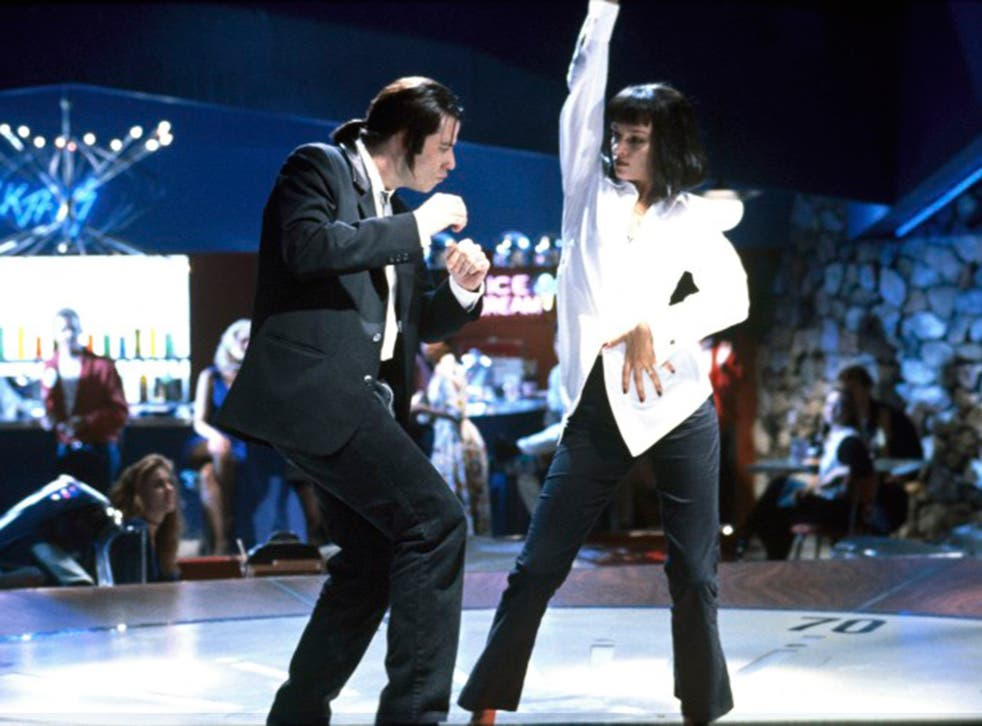 The IMDB site includes trivia on each production. For Pulp Fiction, above, one fact reads: 'The shot of Vincent plunging the syringe into Mia's chest was filmed by having John Travolta pull the needle out, then running the film backwards'