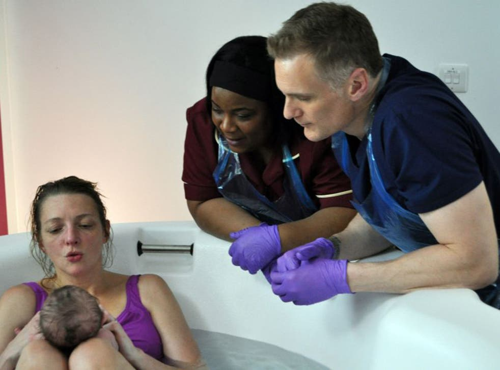 From here to maternity: Darren Boyd plays the midwife in'The Delivery Man'