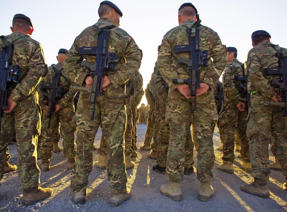 British troops in Afghanistan. File photo