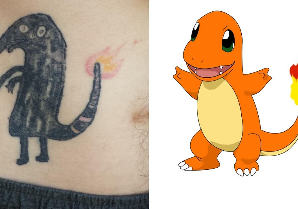 this is what happens when you tattoo charmander on yourself drunk