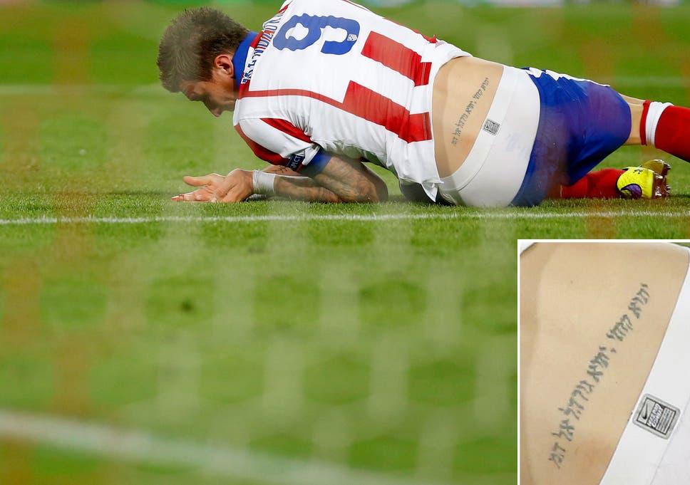 Mario Mandzukics Tattoo Is Written Backwards And