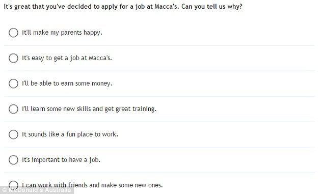 Getting A Job At Mcdonalds Now Involves Passing A Bizarre
