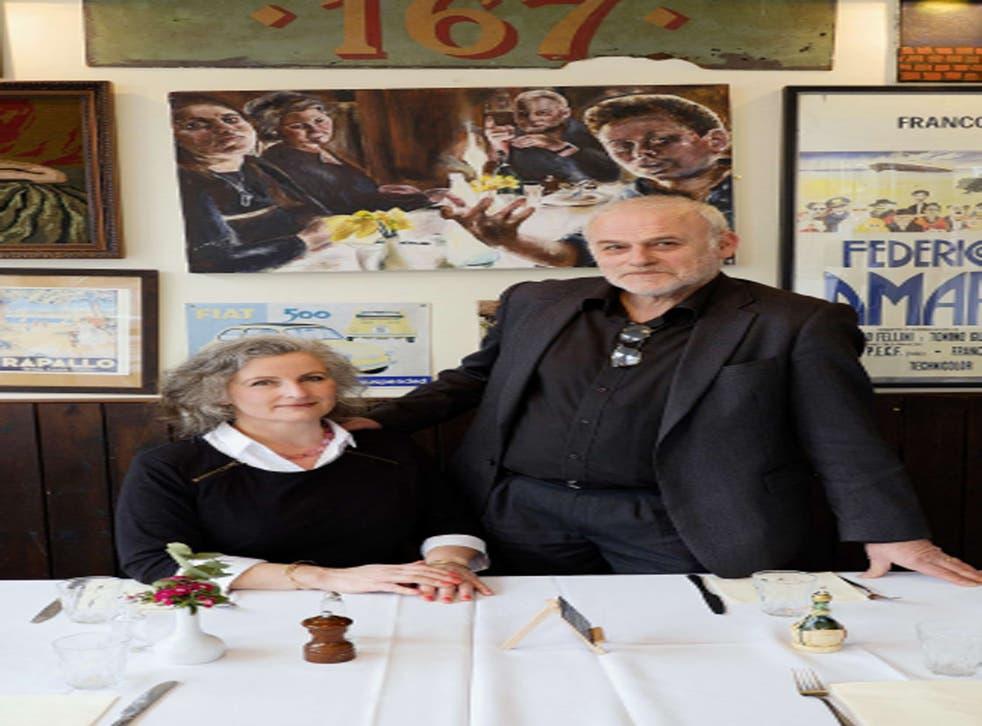 Buon appetito: Simonetta Wenkert and her husband Avi at their Italian restaurant, Ida