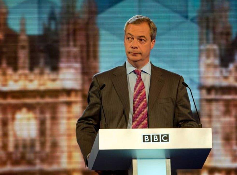 Nigel Farage cut a lonely figure in the debate