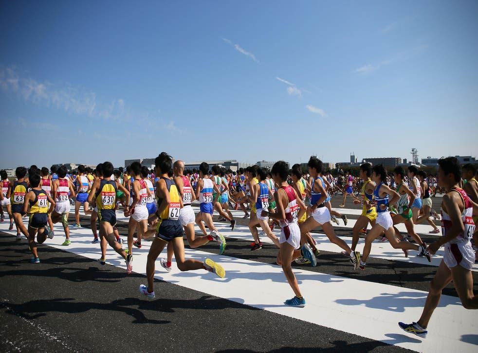 The 91st Hakone Ekiden Qualifier at Showa Kinen Park, Tokyo, 2014