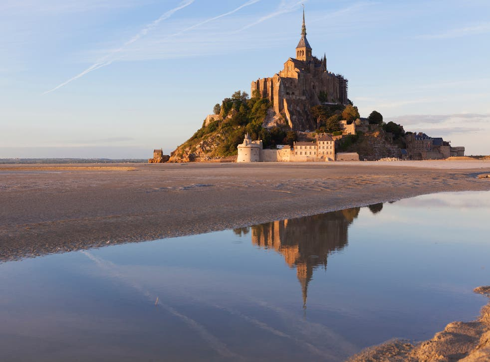 Sands of time: walkers can reach Mont St-Michel at low tide