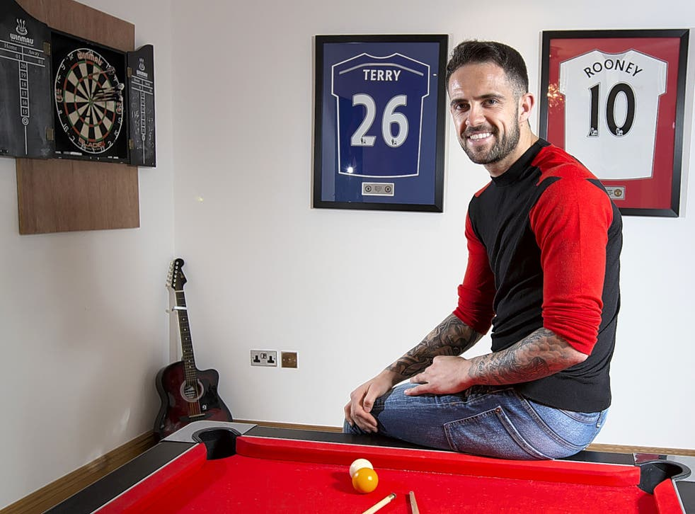 Burnley striker Danny Ings at his home in Manchester this week