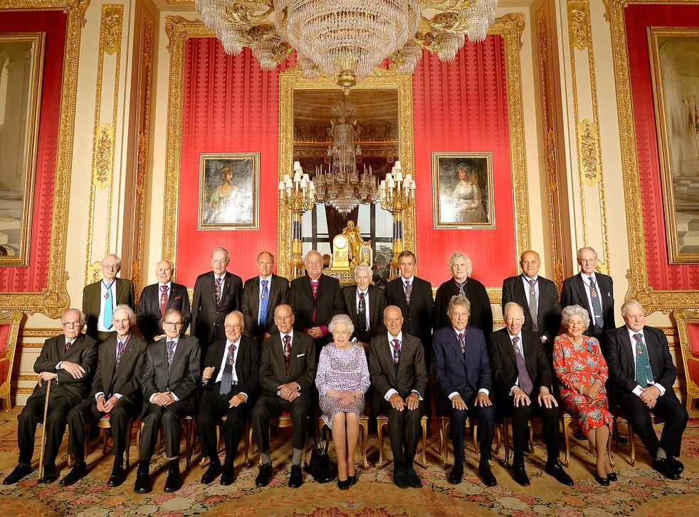Queen Elizabeth II with members of the Order of Merit