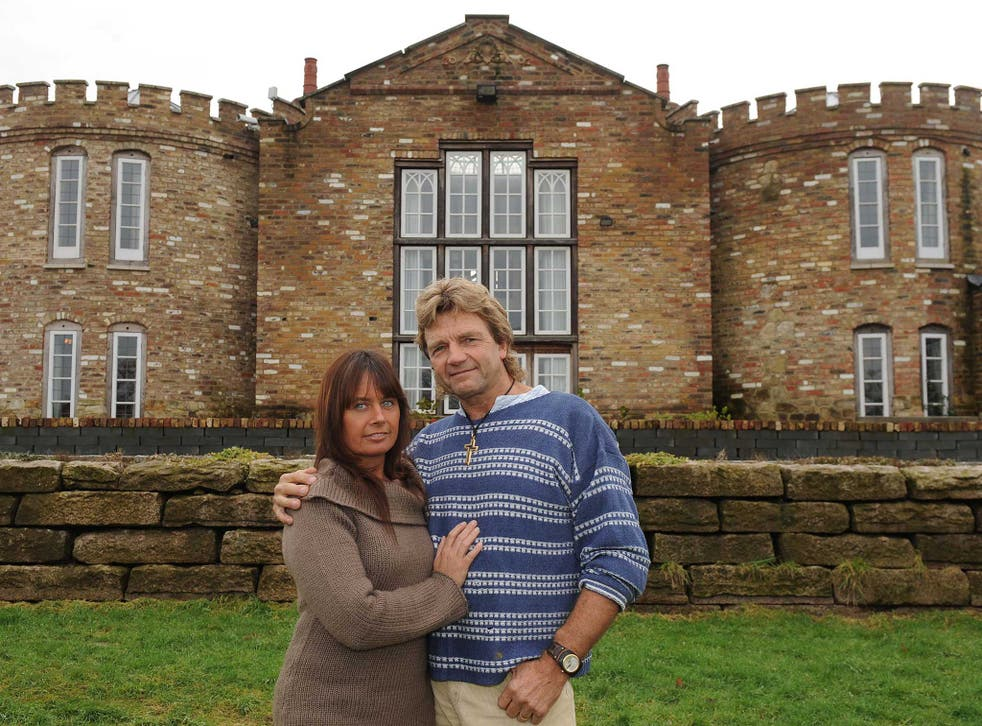 In 2000 Robert Fidler, pictured here with his wife Linda, started slowly building his dream house