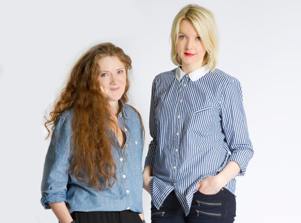 """Sam Baker, left, and Lauren Laverne have created the website for women: smart, funny, down to earth, and written by a """"pool"""" of female writers"""