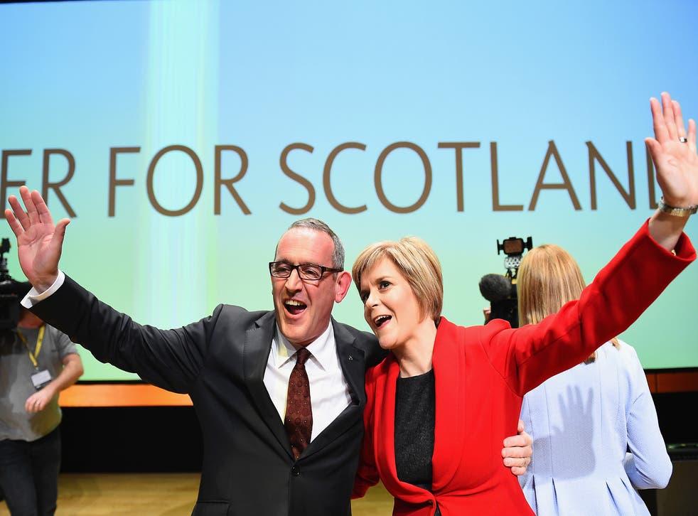 Stewart Hosie with the SNP leader Nicola Sturgeon