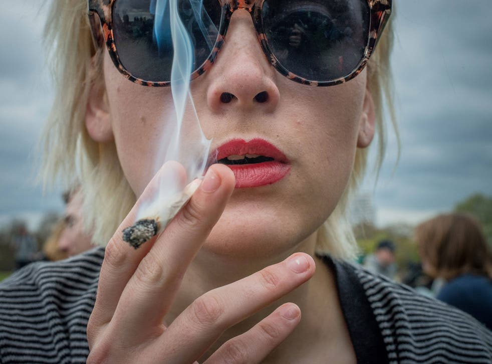 '420 Day' pro-cannabis rally at Hyde Park, London