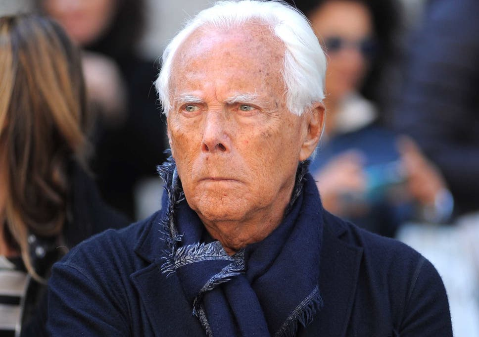 Giorgio Armani Criticises The Way Some Gay Men Dress Saying A Man Has To Be A Man The Independent