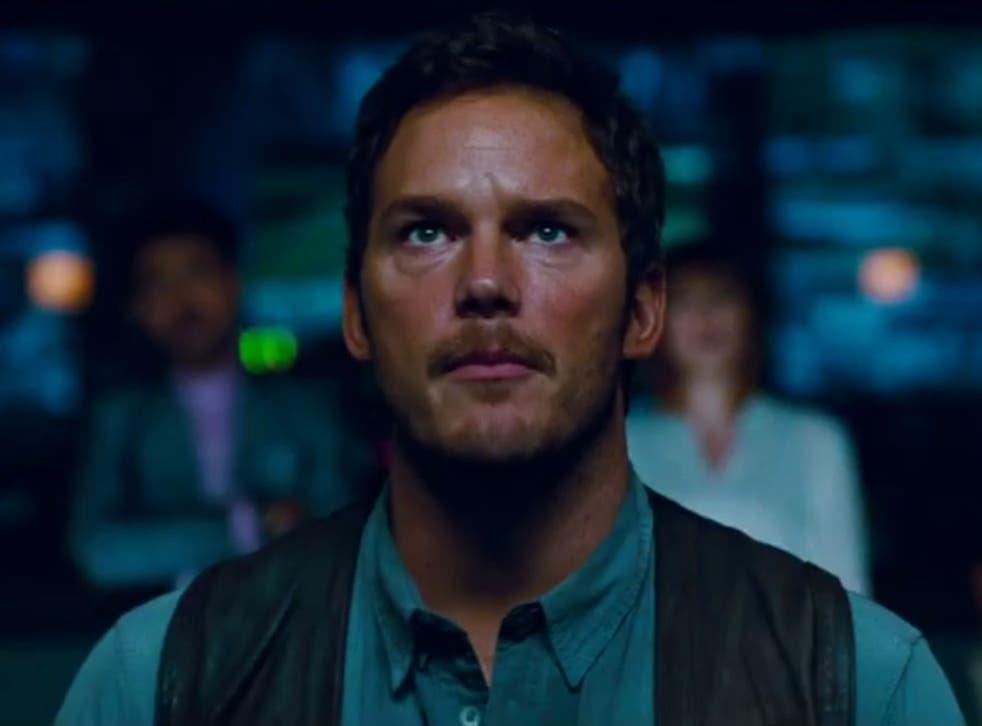 Chris Pratt in Jurassic World's latest trailer