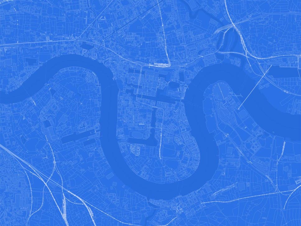 Blueprint map can you guess the name of the city from its outline a blueprint map of london malvernweather Image collections