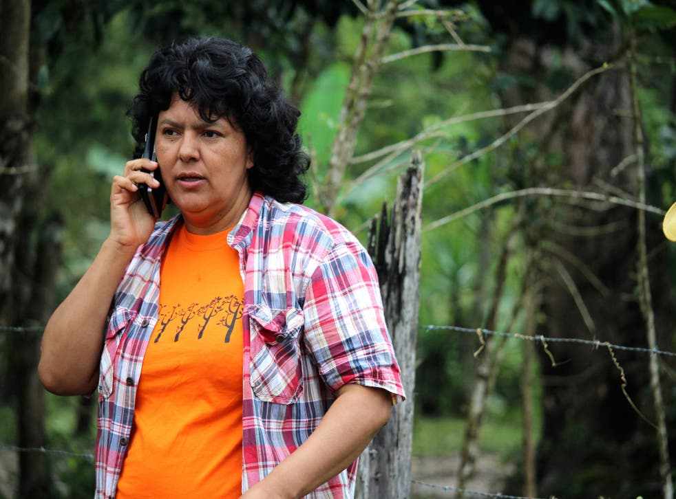 Berta Caceres was recently awarded the Goldman Environmental Prize