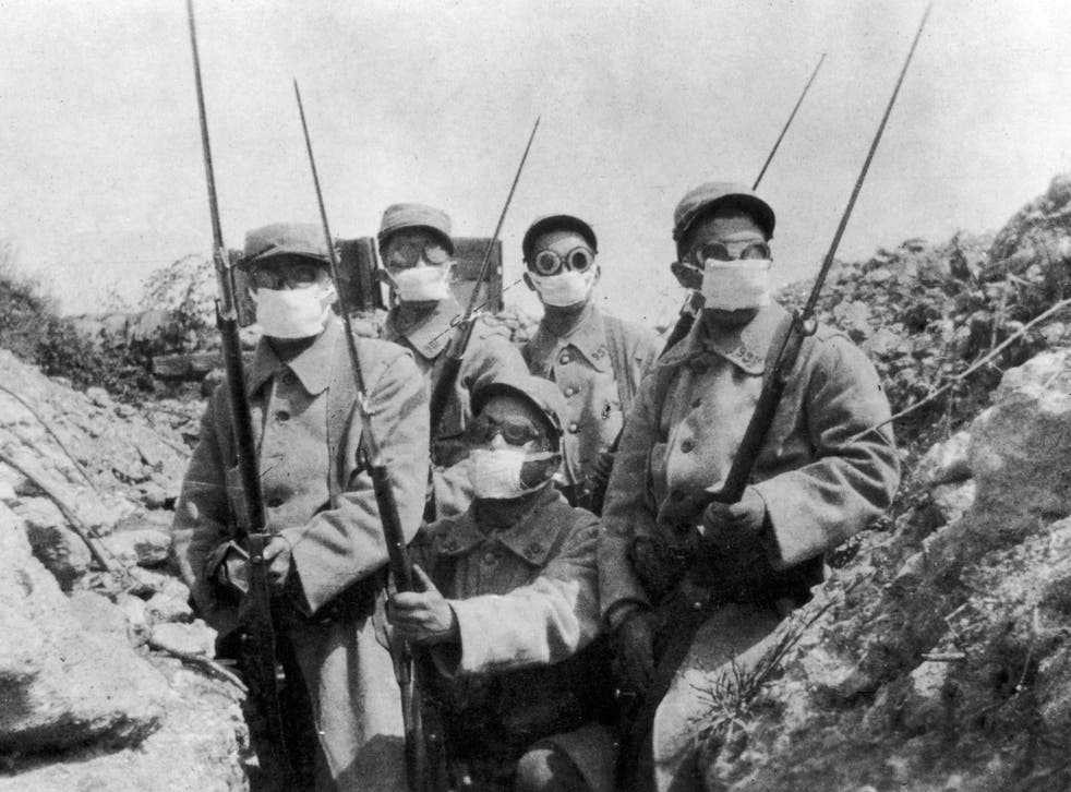 There were an estimated one million casualties from gas during the First World War