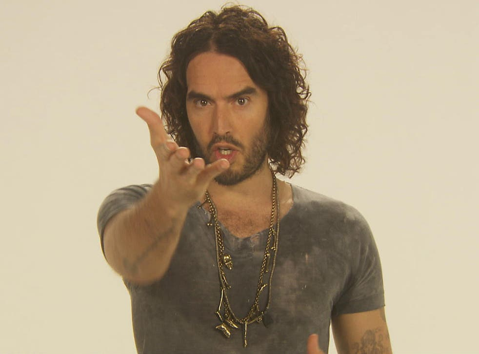 Russell Brand in a still from his new documentary The Emperor's New Clothes