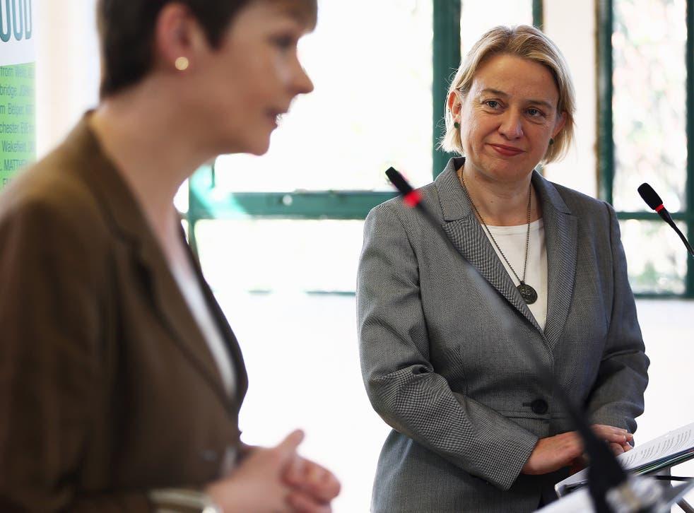 Green Party's Brighton & Hove MP Caroline Lucas, and leader Natalie Bennett