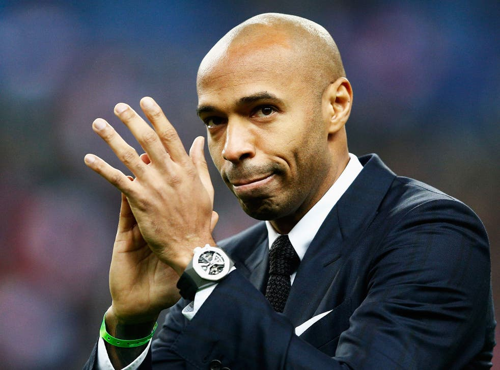 Thierry Henry was less than impressed with Javier Hernandez's celebration
