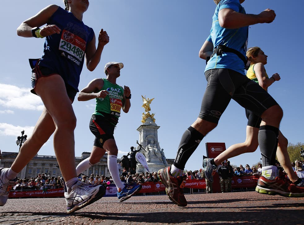 Competitors in last year's London Marathon