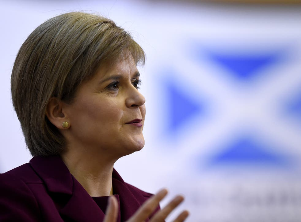 """Nicola Sturgeon has attempted to portray Labour as """"Tory-lite"""" on spending cuts"""